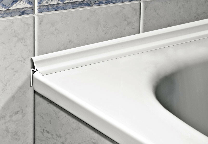 акриловый уголок для ванной на плитку