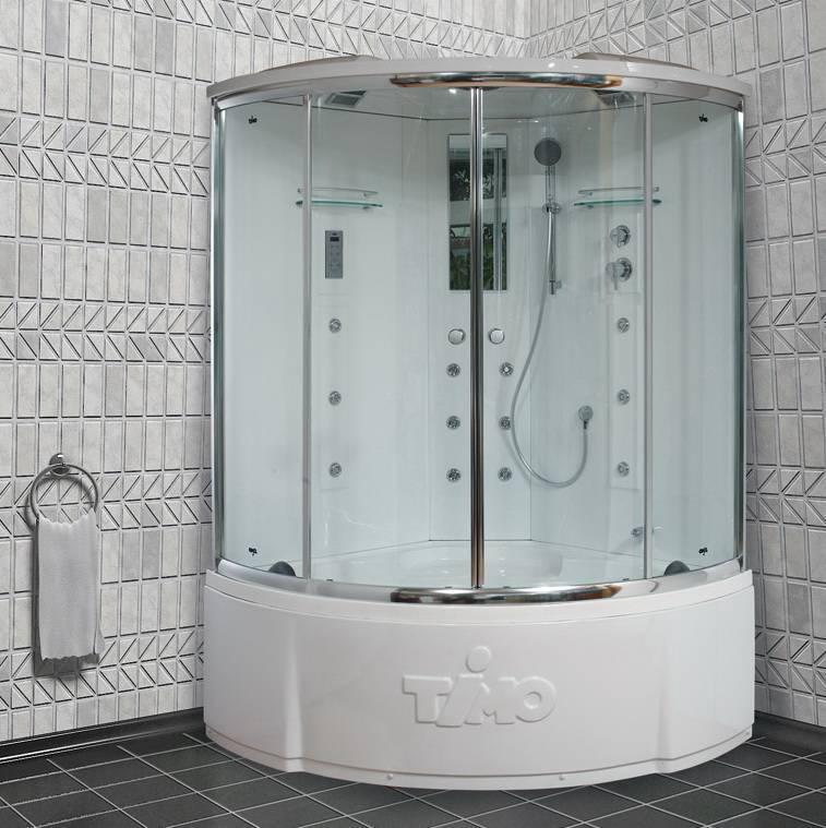 Душевой бокс Timo Lux T-7725 васильковая плитка ванная комната