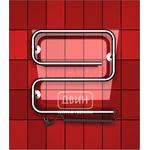 """Электрический полотенцесушитель с нагревательным кабелем Hitze модель hd6 60*60 3/4"""", Двин"""