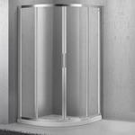 Душевой уголок BelBagno Sela SELA-R-2-80-Ch-Cr рифленое стекло