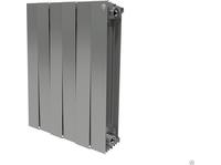 Радиатор биметаллический Royal Thermo Piano Forte 500 silver satin 6 секций, серебро