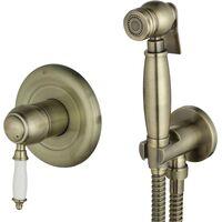 Гигиенический душ Lemark Villa LM4819B со смесителем, встраиваемый, бронза