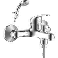 Смеситель Rossinka Y35-30 для ванны с коротким изливом, дивертор с керамическими пластинами, хром