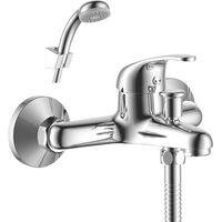 Смеситель Rossinka Y35-31 для ванны с коротким изливом, хром