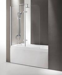 Шторка на ванну Cezares Eco ECO-O-V-21-120/140-C-Cr прозрачное стекло