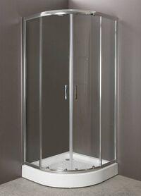 Душевой уголок BelBagno Uno UNO-R-2-90-P-Cr рифленое стекло