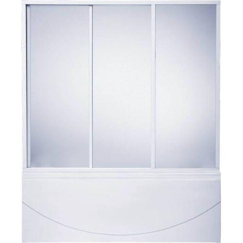 Шторка для ванн «Бриз», «Верона», «Ибица» 3 створки, стекло «Грейп» 1500, Bas
