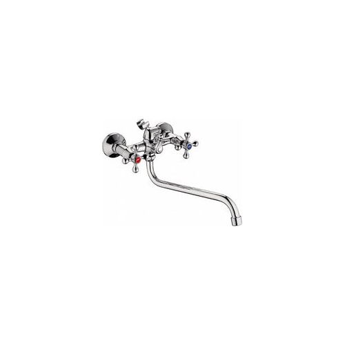 Смеситель для ванны l2108 металлокерамика, длинный нос, латунь, Ledeme