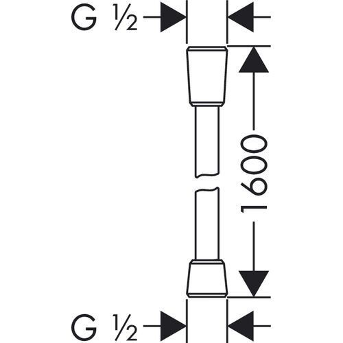 Шланг для лейки Isiflex, 1.6 м, 28276000, Hansgrohe