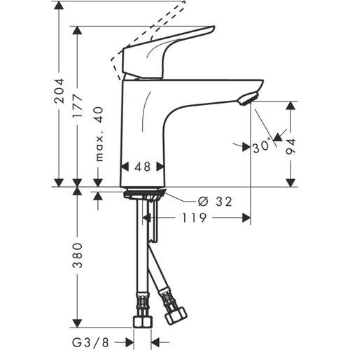 Смеситель для раковины Focus E2 31517000, Hansgrohe