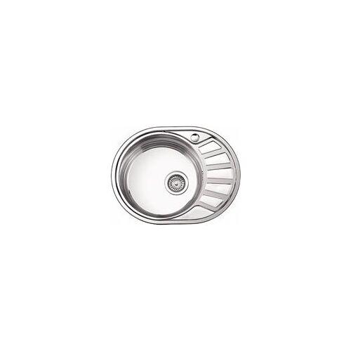 Кухонная мойка Ledeme l65745-l(57х45х18)овал+ сифон лайн 0.8, Ledeme