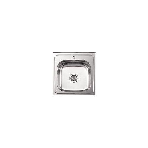 Кухонная мойка Ledeme l95050 (50х50х18) + сифон полиров. 0.8мм, Ledeme