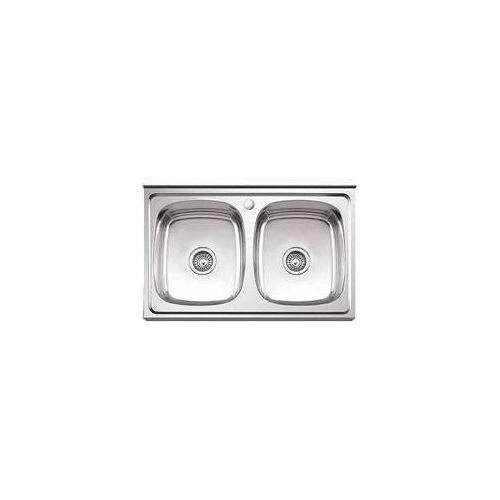 Кухонная мойка Ledeme l98060в (80х60) 2чаши+ сифон полир.0.8мм, ledeme
